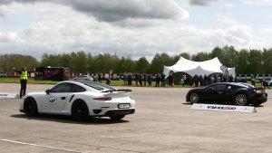 直线加速赛 布加迪威航/Aventador/911