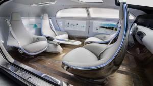 奔驰F 015可变座椅系统 实现180度旋转