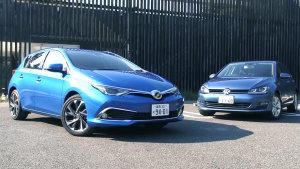 新丰田AURIS紧凑级轿车 对比大众高尔夫