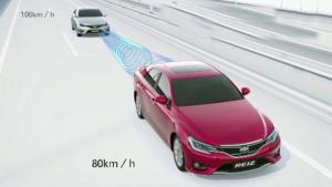 丰田锐志 自适应雷达巡航控制系统演示