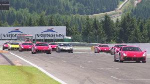 百辆法拉利超跑同场竞技 赛道飙车
