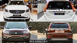 2015款本田CR-V 外观对比沃尔沃XC60