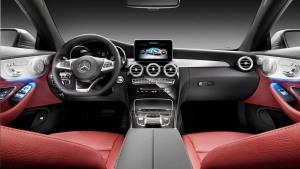 奔驰C 300 Coupe内饰 红色座椅活泼狂野