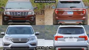 2016款本田Pilot对比2016款福特探险者