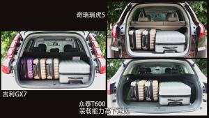 吉利GX7/众泰T600/瑞虎5 尾厢功能对比