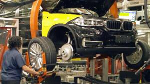 宝马美国斯帕坦堡工厂 实拍X5/X6生产线