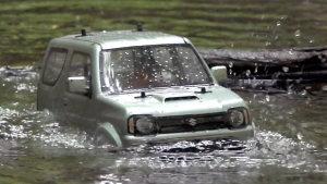 高难度越野 铃木吉姆尼遥控车山林涉水