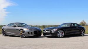 捷豹F-Type R 对比试驾奔驰AMG GT S