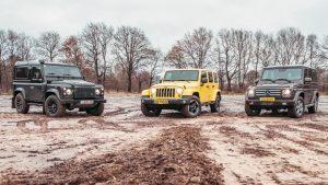 Jeep/奔驰/路虎 泥泞路段激情越野