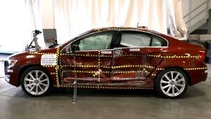 2016款沃尔沃S60 NHTSA侧面碰撞测试