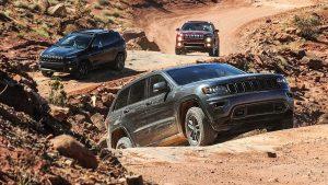 Jeep75周年致敬版车型 挑战复杂岩石路