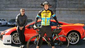 城市另类竞速PK 自行车挑衅迈凯伦675LT