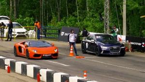 奥迪RS7 直线秒杀兰博基尼Aventador