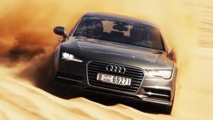 奥迪A7竟可以这么玩 迪拜沙漠冲沙越野