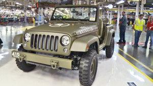 Jeep牧马人75周年概念车 实拍生产车间
