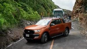 福特Ranger皮卡 成功汇报山体滑坡险情