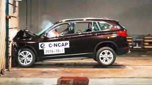 C-NCAP碰撞测试 新款华晨宝马X1获5星
