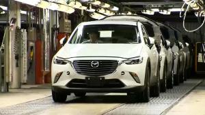 汽车出厂 2016款马自达CX-3工厂探秘