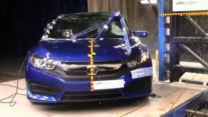 本田思域Coupe NHTSA侧面柱形碰撞测试