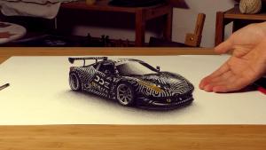 亮瞎双眼 大神3D手绘法拉利458超逼真