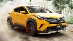 丰田C-HR TRD版 采用亮黄色车身套件