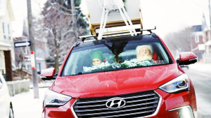全新胜达Sport 圣诞老人座驾长这样