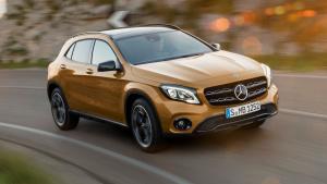 新款奔驰GLA级 采用更夸张保险杠设计
