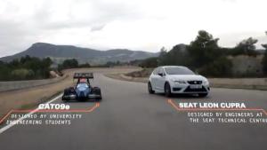 新款西雅特Leon Cupra 挑战电动工程车