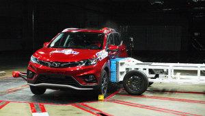 C-NCAP碰撞测试 东南DX3手动尊贵获5星