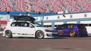 两款高尔夫GTI改装不同轮毂 争相斗艳
