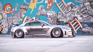 改装日产GT-R 手工刻画车身3D浮雕