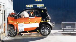 2017款smart fortwo NHTSA正面碰撞测试