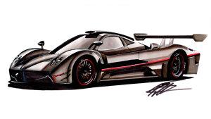 快速手绘帕加尼Zonda R 千万级超级跑车