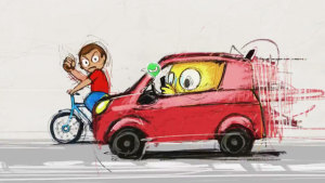 福特创意 卡通表情包演绎开车不玩手机