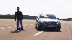 梅赛德斯-奔驰S级 回避障碍能力测试