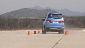 东风启辰M50V 110米紧急变线测试