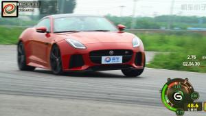 捷豹F-Type SVR赛道操控测试 动力强劲