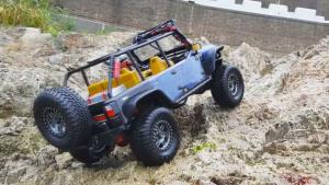 RC Jeep海滩冲浪 大秀超群越野力