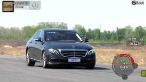 奔驰E320L行政级轿车 刹车道路实测