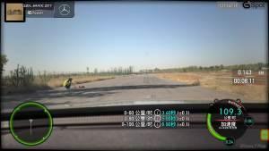 奔驰E320L行政级轿车 加速测试车内视角