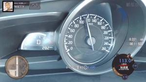 马自达3昂克赛拉 加速实测仪表盘视角