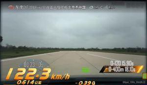 DX7 超级评测0-100km/h加速车内视角