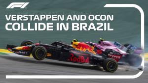 2018 巴西大奖赛维斯塔潘和奥孔的碰撞