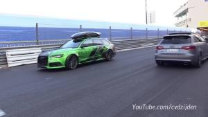 奥迪RS6 C7 Avant改装天蝎排气 外观帅气