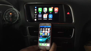 广州番禺沙湾镇改装奥迪Q5无线carplay苹果