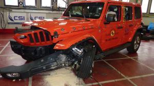 全新Jeep牧马人在欧洲NCAP碰撞测试中,仅获1星