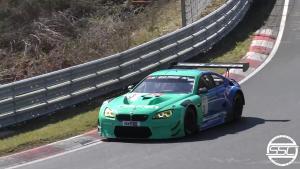宝马M6 GT3纽博格林北环狂飙!涡轮增压的声音很燃