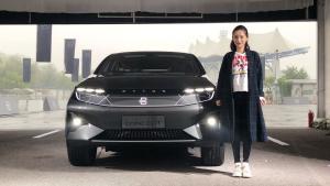 科技感爆炸的未来产物!实拍拜腾纯电SUV概念车