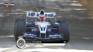 威廉姆斯 FW26 赛车亮相 2018 古德伍德速度节