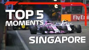 F1   2018 新加坡大奖赛 Top 5 精彩时刻